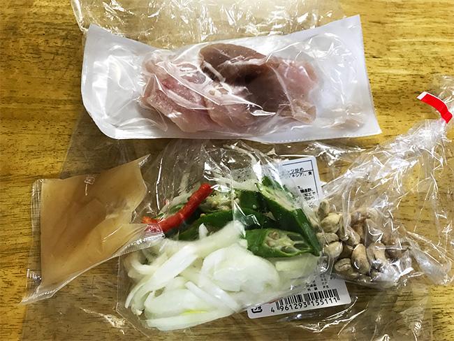 コープの食材キットカジキとオクラ炒め物